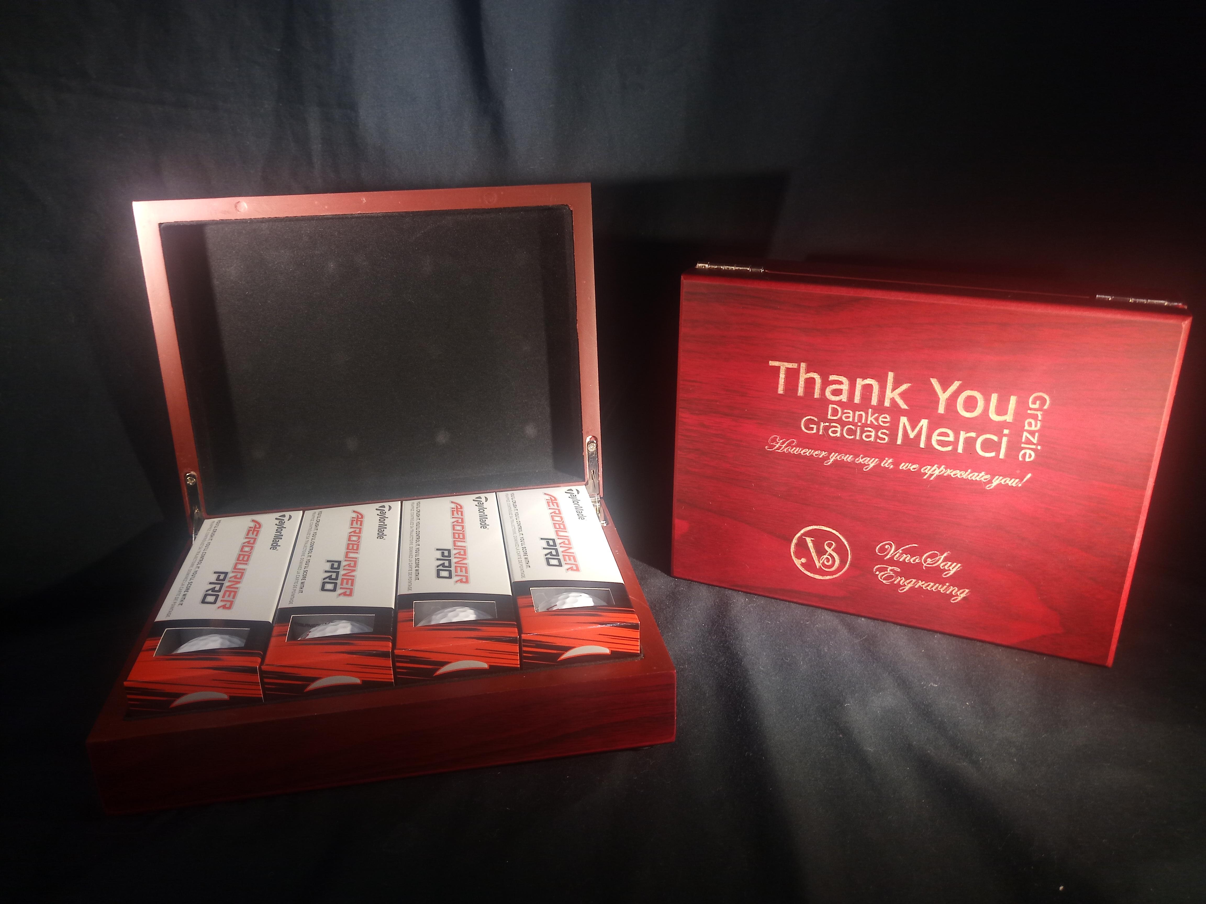 Golf Balls in Engraved Case
